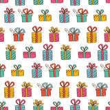 Gift boxes seamless background Royalty Free Stock Photo