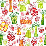 Gift boxes seamless ornament stock image