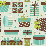 Gift boxes seamless pattern Royalty Free Stock Images