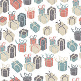 Gift boxes seamless pattern. Vector illustration, EPS8 Stock Photography