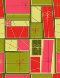 Gift boxes - seamless pattern. Seamless pattern in retro style Royalty Free Stock Photography