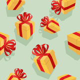 Gift boxes Seamless pattern. background for  holidays: birthdays Stock Photos