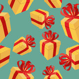 Gift boxes Seamless pattern. background for  holidays: birthdays Stock Images