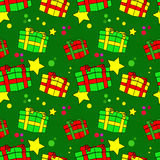 Gift boxes seamless pattern Stock Photos