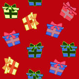 Gift boxes seamless pattern Royalty Free Stock Photo