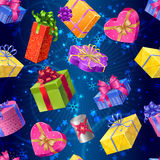 Gift Boxes Seamless Pattern Royalty Free Stock Photos
