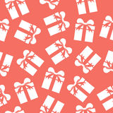 Gift boxes seamless pattern. Stock Images