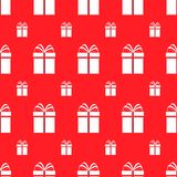 Gift boxes seamless pattern. Red holidays background. Simple flat present. Repeat texture. Vector illustration. Can use for holida vector illustration