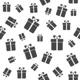 Gift boxes seamless pattern Stock Photo