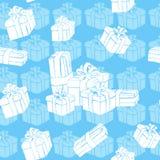 Gift boxes seamless pattern Stock Photo