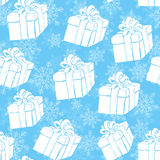 Gift boxes seamless pattern Royalty Free Stock Photography