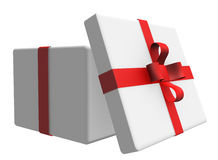 Gift boxes separated on white Royalty Free Stock Photos