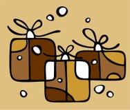 Gift boxes set Royalty Free Stock Photos