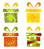 Gift boxes set Royalty Free Stock Images