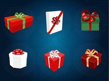 Gift boxes set Royalty Free Stock Photo
