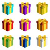 Gift Boxes Set Stock Photo