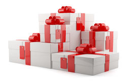 Gift boxes set Stock Image