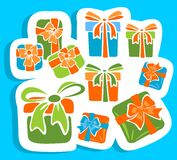 Gift boxes set Royalty Free Stock Photography