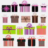 Gift Boxes. Set of gift boxes in different colors Royalty Free Stock Image