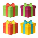 Gift boxes  set Royalty Free Stock Image
