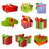 Gift boxes set Stock Photos