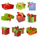 Gift boxes set Stock Photos