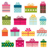 gift boxes set Stock Images