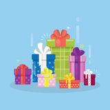 Gift boxes set. Stock Photography