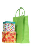 Gift Boxes and Shopping Bag Royalty Free Stock Photo