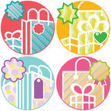 Gift boxes Shopping holiday elements Stock Images