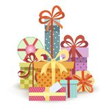 Gift boxes stack Stock Photography
