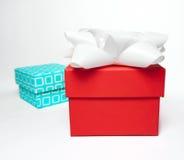 Gift boxes, studio shot Royalty Free Stock Photos