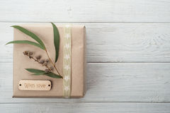 Gift Boxes with Tag Love Royalty Free Stock Image