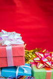 Gift boxes on top Stock Photos