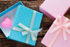 Gift boxes on Valentine day Royalty Free Stock Photo