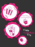 Gift boxes valentines day. Vector Illustration of gift boxes Royalty Free Stock Photos