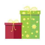 Gift Boxes Vector Icon in Flat Style Design Royalty Free Stock Images