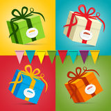Gift Boxes - Vector Present Box Set Stock Photos