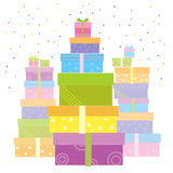 Gift boxes.Vector presents isolated on white Royalty Free Stock Image