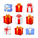 Gift boxes vector set Royalty Free Stock Image