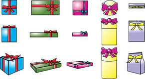 Gift boxes vector template Royalty Free Stock Photo