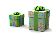Gift boxes on a white background. 3d Stock Images