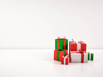 Gift boxes,  on white background. 3d rendered Royalty Free Stock Photography