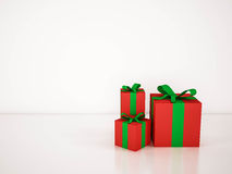 Gift boxes on white background, 3d rendered. Gift boxes on white background. 3d rendered Royalty Free Stock Photo