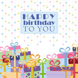 Gift boxes on a white background. For greeting card with place for text Stock Photo