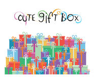 Gift boxes for your promotion design - vector illustration Stock Photography