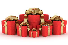 Gift boxs. 3D image. Illustrations Stock Photography
