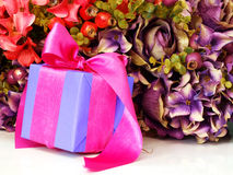 Gift boxs pressent with ribbon decorations Stock Image