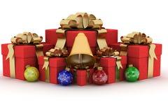 Gift boxs on white background. Stock Photography