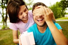 Gift for boyfriend Stock Image